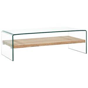 kohvilaud läbipaistev 98 x 45 x 31 cm karastatud klaas