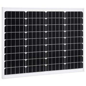 päikesepaneel 50 W monokristalliline alumiinium ja turvaklaas