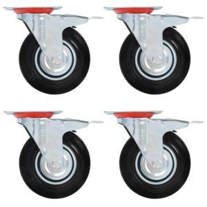 pöörlev ratas topeltpiduritega 4 tk 125 mm
