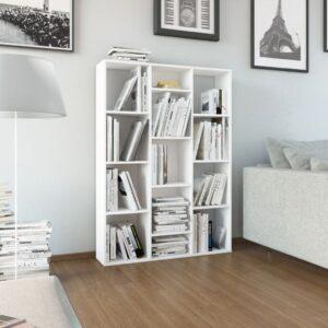 ruumijagaja/raamaturiiul valge 100 x 24 x 140 cm puitlaastplaat