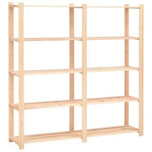 5-korruseline hoiuriiul 170 x 38 x 170 cm FSC männipuit 500 kg