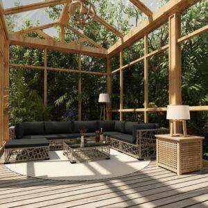 8-osaline aiamööblikomplekt patjadega