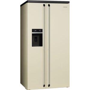 Külmik Smeg Victoria, Side-by-Side, 184 cm, A+, 45 dB, NoFrost, kreem, Smeg