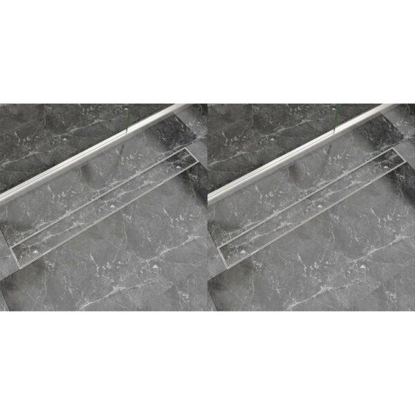 lineaarne duši äravoolusüsteem 2 tk 1030 x 140 roostevaba teras