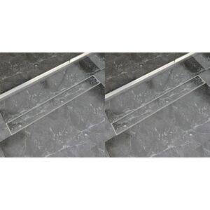 lineaarne duši äravoolusüsteem 2 tk 930 x 140 roostevaba teras