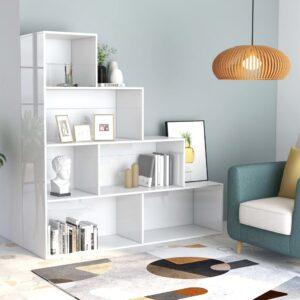 raamaturiiul/ruumijagaja valge 155 x 24 x 160 cm puitlaastplaat