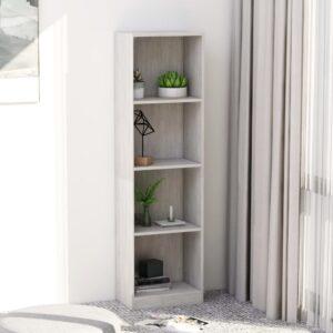 4-korruseline raamaturiiul betoonhall 40x24x142 puitlaastplaat