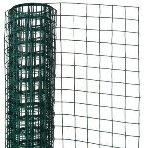 Nature traatvõrk ruut 1 x 5 m 13 mm plastkattega teras roheline