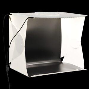 kokkupandav LED fotostuudio valguskast 40x34x37 cm plast