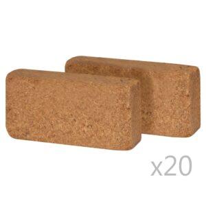 kookostabletid 40 tk 650 g 20 x 10 x 4 cm