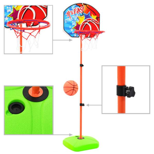 laste korvpallirõnga ja palli komplekt