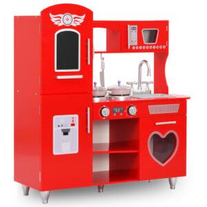 laste mänguköök MDF 84 x 31 x 89 cm punane