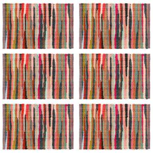 lauamatid 6 tk Chindi tavaline mitmevärviline 30x45 cm