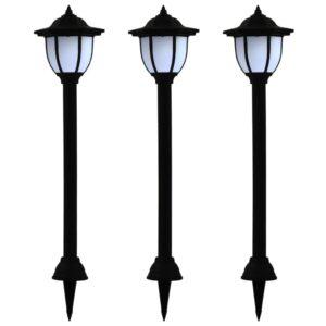 päikesepatareiga aiavalgustid 3 tk LED must