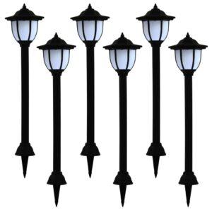 päikesepatareiga aiavalgustid 6 tk LED must