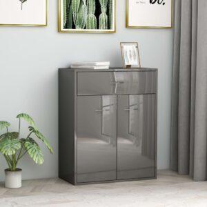 puhvetkapp kõrgläikega hall 60 x 30 x 75 cm