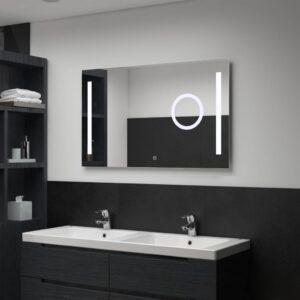 vannitoa LED-seinapeegel puutetundliku anduriga 100 x 60 cm