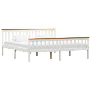 voodiraam valge männipuidust 180 x 200 cm
