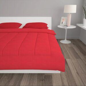 3-osaline talvetekikomplekt kangas punane 200x200/80x80 cm