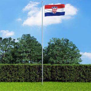 Horvaatia lipp 90 x 150 cm