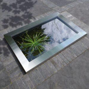 Ubbink Quadra C3 roostevabast terasest basseiniraam