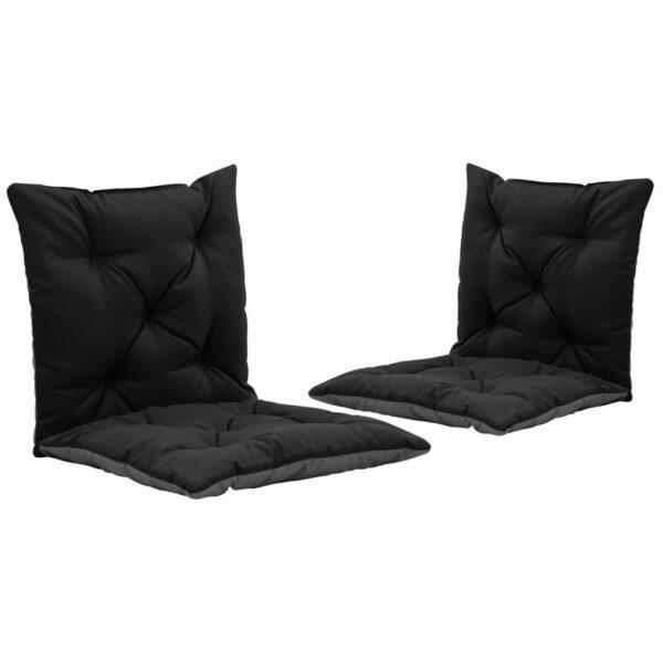 aiakiige istmepadjad 2 tk must ja hall 50 cm kangas