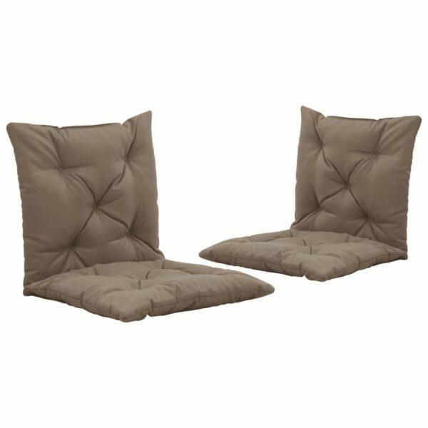 aiakiige istmepadjad 2 tk pruunikashall 50 cm kangas