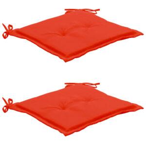 aiatooli istmepadjad 2 tk punane 50 x 50 x 3 cm