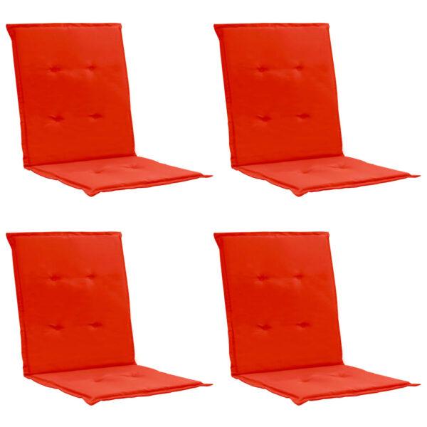 aiatooli istmepadjad 4 tk punane 100 x 50 x 3 cm