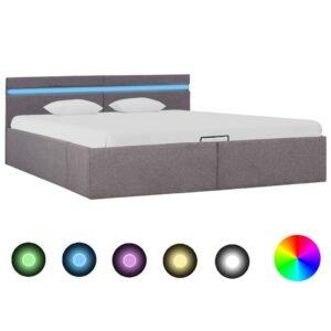 hoiukastiga voodiraam LED