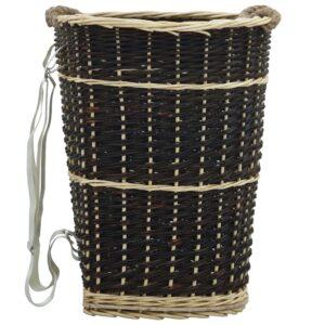 küttepuude seljakott kanderihmadega 50x44x58 cm naturaalne paju