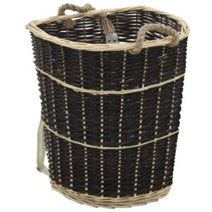 küttepuude seljakott kanderihmadega 57x51x69 cm naturaalne paju