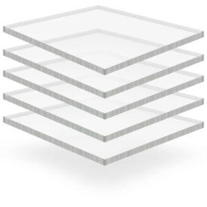 läbipaistev akrüülklaas 5 lehte 40 x 60 cm 15 mm