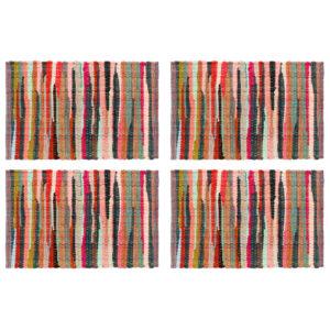 lauamatid 4 tk Chindi tavaline mitmevärviline 30x45 cm