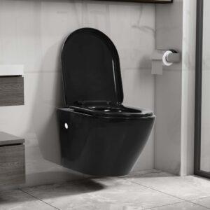 seinale kinnitatav ääreta keraamiline tualettpott