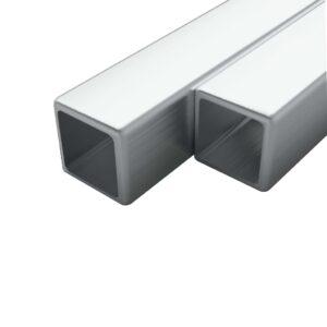 2 tk roostevabast terasest torud kandilised V2A 1 m 20x20x1