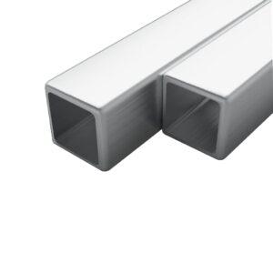 2 tk roostevabast terasest torud kandilised V2A 2 m 20x20x1