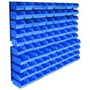 96-osaline hoiukarpide komplekt seinapaneelidega sinine