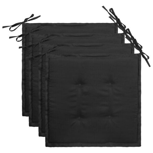 aiatooli istmepadjad 4 tk must 40 x 40 x 3 cm