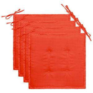 aiatooli istmepadjad 4 tk punane 40 x 40 x 3 cm