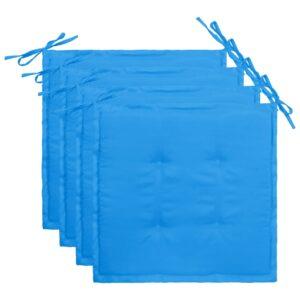 aiatooli istmepadjad 4 tk sinine 40 x 40 x 3 cm