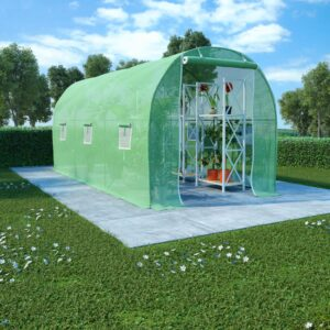 kasvuhoone terasest vundamendiga 9 m² 4