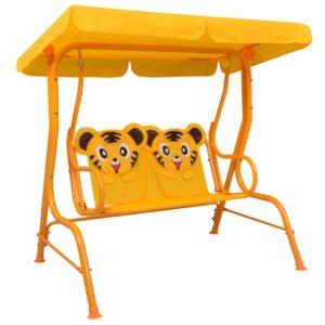 laste aiakiik kollane 115 x 75 x 110 cm kangas