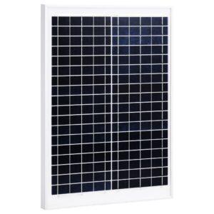 päikesepaneel 20 W polükristalliline alumiinium ja turvaklaas