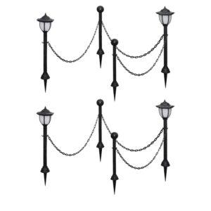 päikesepatareiga lambid 4 tk kettaia ja postidega