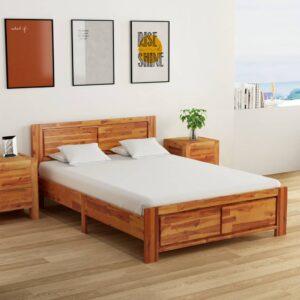 voodiraam tugevast akaatsiapuidust 140 x 200 cm
