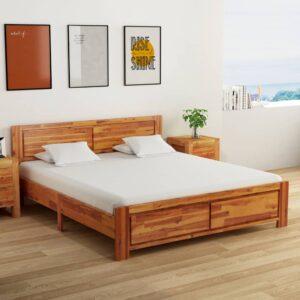voodiraam tugevast akaatsiapuidust 180 x 200 cm