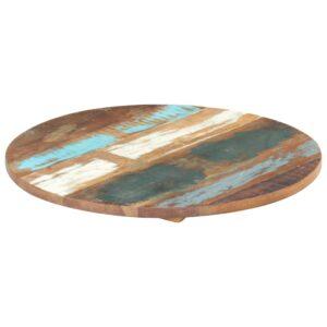 ümmargune lauaplaat 40 cm 25–27 mm toekas taaskasutatud puit