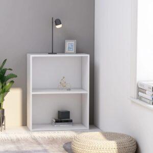 2-korruseline raamaturiiul valge 60x30x76