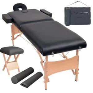 2-tsooniline kokkupandav massaažilaud ja -tool 10 cm